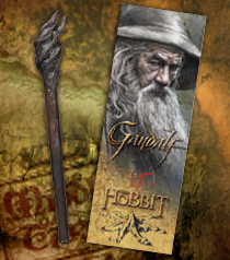 Gandalf Staff Pen and Paper Bookmark