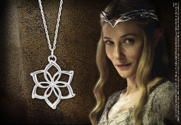 Galadriel™ Flower Necklace - Sterling Silver - Hobbit