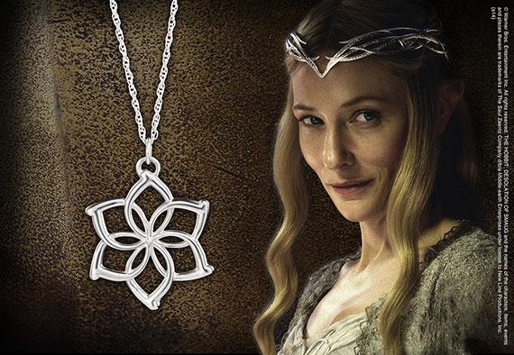 Galadriel™ Collar Flor - Plata Pura - Hobbit