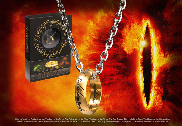 LOTR - The One Ring, Stainless Steel on Chain