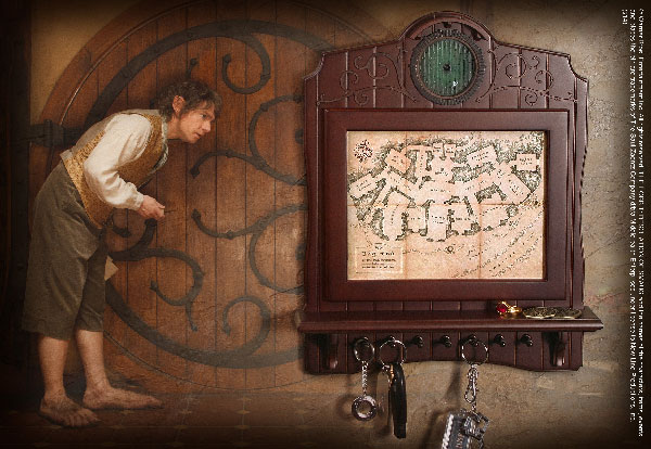 Bag-end Map Plaque Key Holder