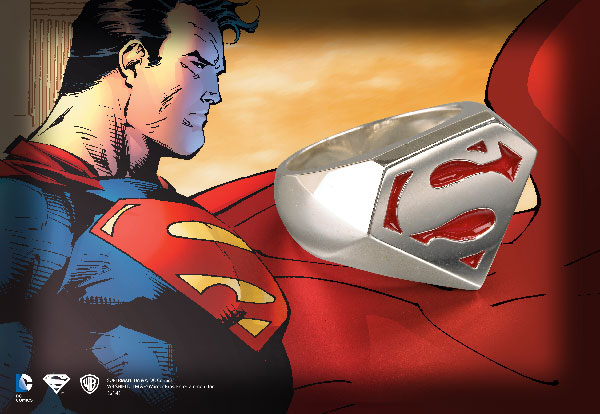 Superman™ - Sterling Signet Ring
