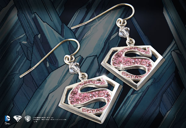 Supergirl - Pink Crystal Earrings