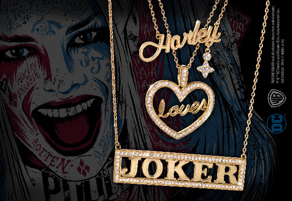 DC- Harley Loves Joker Necklace Set