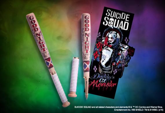Harley Quinn - Bolígrafo bate de beisbol y marca páginas - Escuadrón Suicida - DC Comics