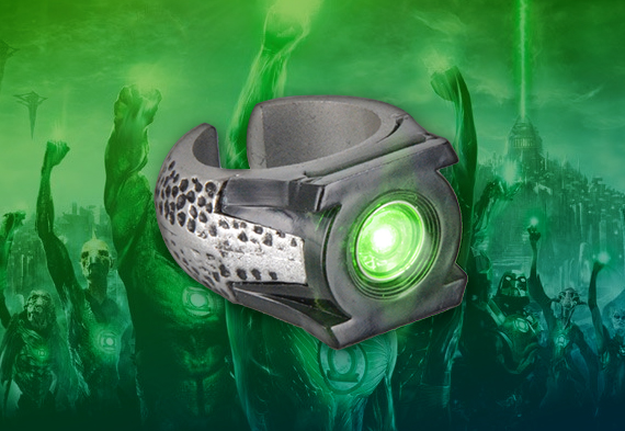 Light Up ring - Green Lantern - DC comics