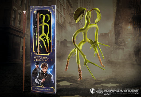 Newt Scamander's wand blister and Bowtruckle