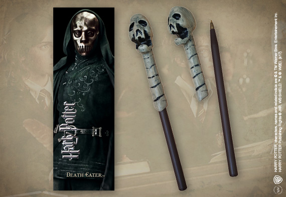 Death Eater (skull) Wand Pen & Bookmark