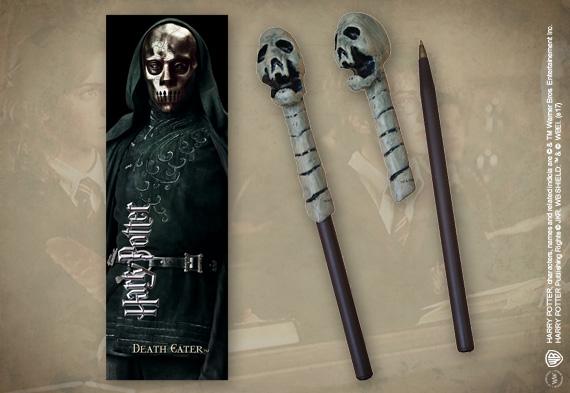 Bolígrafo Varita & marca página Death Eater (skull)