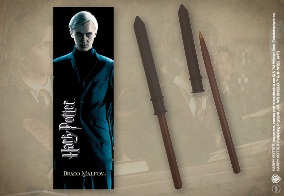 Draco Malfoy Wand Pen & Bookmark