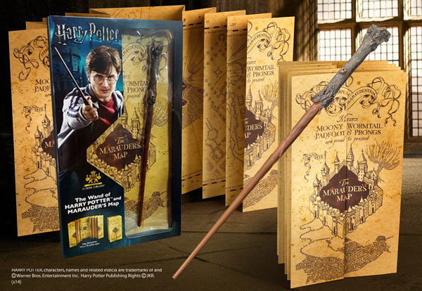 Harry Potter Wand and Marauders Map - Blister