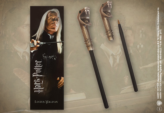 Lucius Malfoy Wand Pen and Bookmark