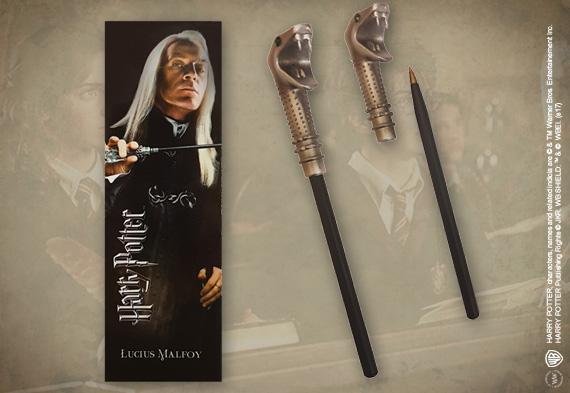 Stylo baguette et Marque-page Lucius Malefoy