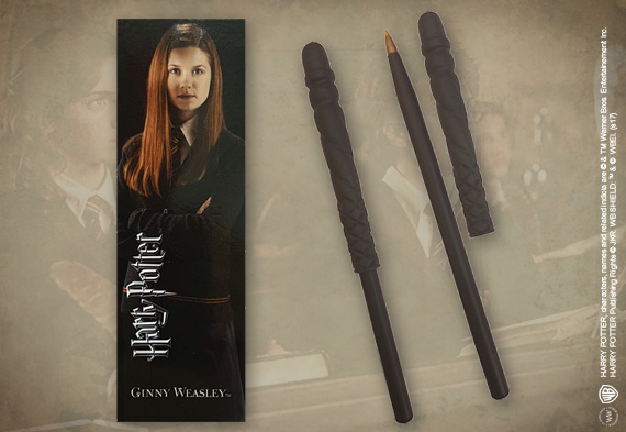 Stylo baguette & Marque-page Ginny Weasley