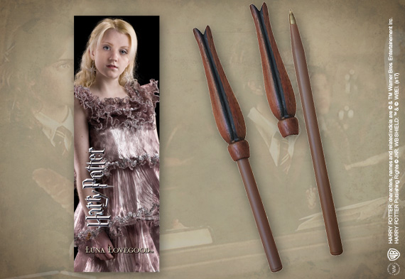 Luna Lovegood Wand Pen & Bookmark