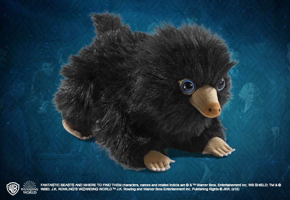 Baby Niffler plush ALL Black - The Fantastic Beasts