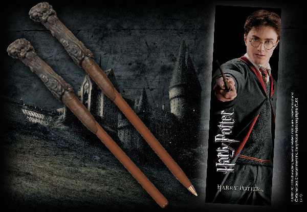 Stylo baguette & Marque-page Harry Potter