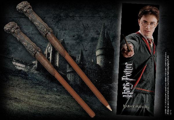 Bolígrafo Varita & marca página Harry Potter