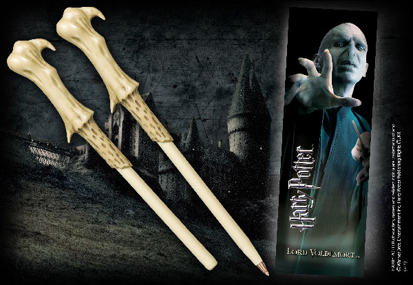 Stylo baguette & Marque-page Voldemort