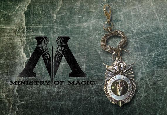 Porte-cles Ministère de la Magie