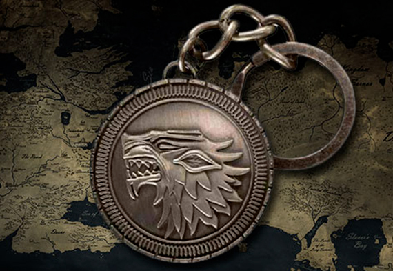 Game of Thrones - Stark Shield Keychain