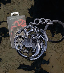 GOT - TARGARYEN Sigil Key Chain (steel gray)