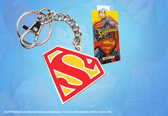 Porte-cles Logo Superman en couleur