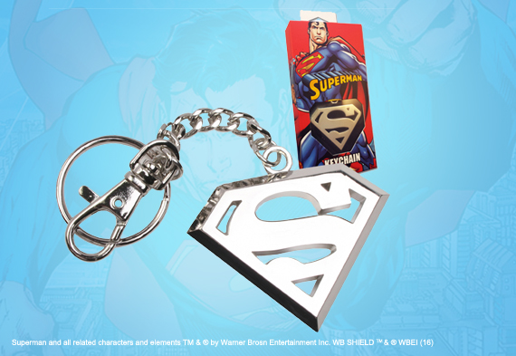 Superman Stainless Steel Logo Keychain