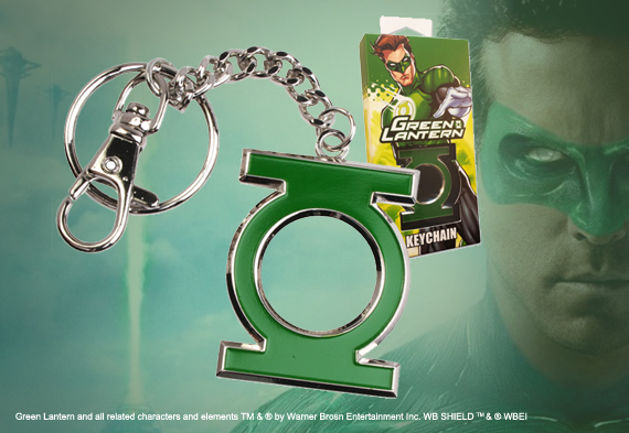 Green Lantern Shaped Colour Keychain