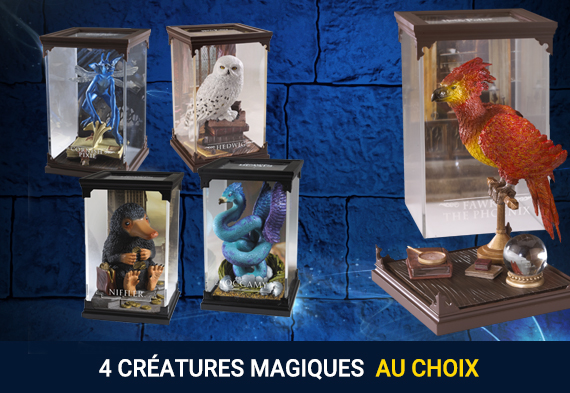 Pack 4 criaturas mágicas Harry Potter - Fantastic Beasts