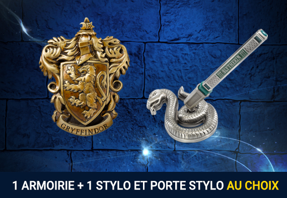 Pack  House Crest + Pen and Desk Stand - Harry Potter