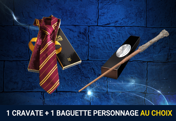 Pack cravate + baguette personnage