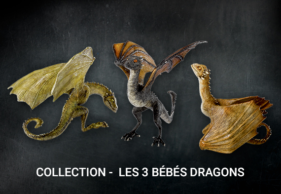 Pack 3 dragones - Game of Thrones